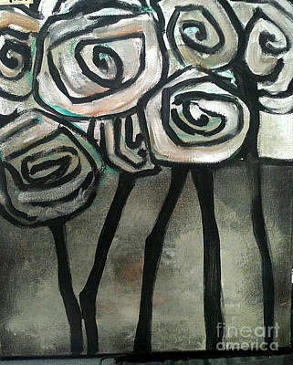 Sofa Size Painting - Gothic Roses by Michelle Tynan