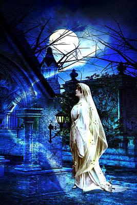 Edwardian Woman Digital Art - Gothic Scene by Lisa Yount