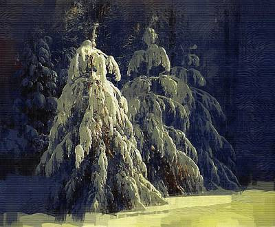 Mitchell Gibson Digital Art - Gothic Snow by Mitchell Gibson