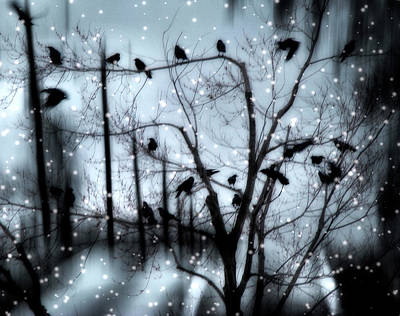 Gothic Snow Storm Art Print by Gothicrow Images