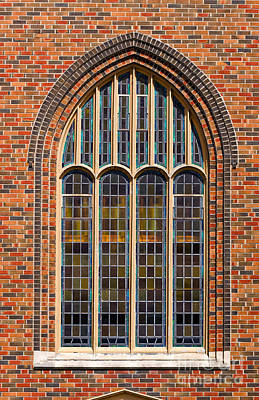 Photograph - Gothic Stained Glass Window by Les Palenik