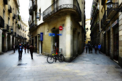 Photograph - Gothic Streets Of Barcelona by Jack Daulton