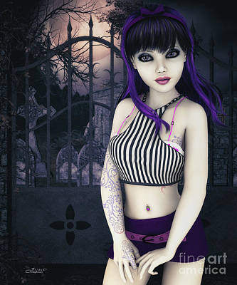 Digital Art - Gothic Temptation by Jutta Maria Pusl