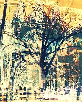 Gothic Trees Art Print