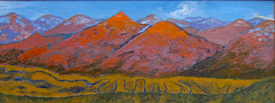 Painting - Gothic Valley Autumn View by Kathryn Barry