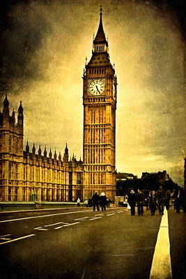 Big Ben Photograph - Gothic Westminster - Big Ben by Mark E Tisdale