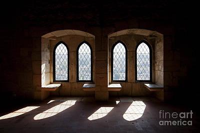 Gothic Windows Of The Royal Residence In The Leiria Castle Art Print by Jose Elias - Sofia Pereira