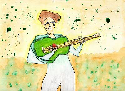 Painting - Gotta Green Guitar by Jim Taylor