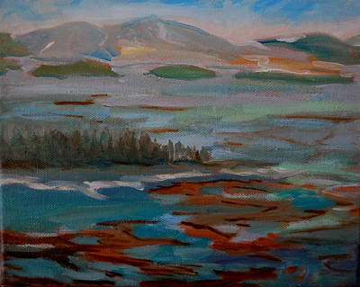 Maine Landscapes Painting - Gouldsboro Bay In Winter by Francine Frank