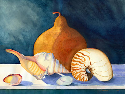 Painting - Gourd And Shells by Katherine Miller