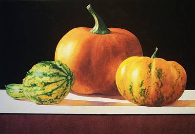 Vegetable Painting - Gourds by Jean Yates