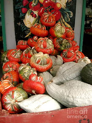 Art Print featuring the photograph Gourds Piled High by Joyce Gebauer