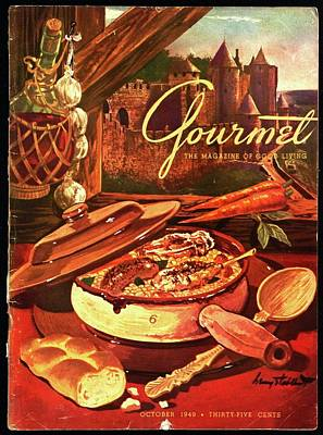 Gourmet Cover Featuring A Pot Of Stew Art Print by Henry Stahlhut