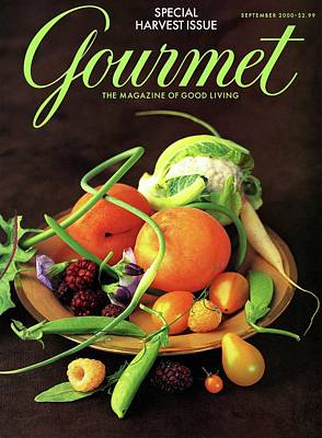 Cauliflower Photograph - Gourmet Cover Featuring A Variety Of Fruit by Romulo Yanes