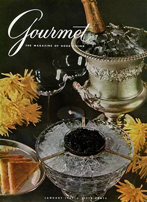 Champagne Glasses Photograph - Gourmet Cover Featuring A Wine Cooler by Arthur Palmer