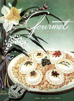 Photograph - Gourmet Cover Featuring Poached Eggs On Cubed by Henry Stahlhut