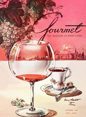 Alcohol Photograph - Gourmet Cover Illustration Of A Baccarat Balloon by Henry Stahlhut