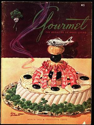 Gourmet Cover Illustration Of A Filet Of Sole Art Print by Henry Stahlhut