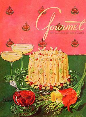 Alcohol Photograph - Gourmet Cover Illustration Of A Molded Rice by Henry Stahlhut