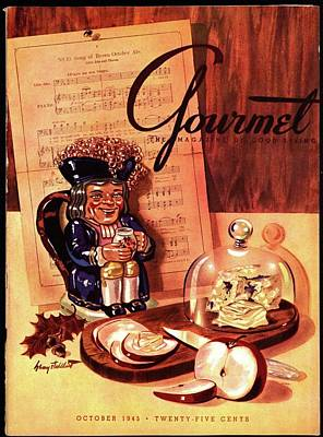 Porcelain Art Photograph - Gourmet Cover Illustration Of A Tray Of Cheese by Henry Stahlhut