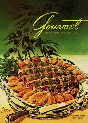 Tableware Photograph - Gourmet Cover Illustration Of Entrecote A La by Henry Stahlhut