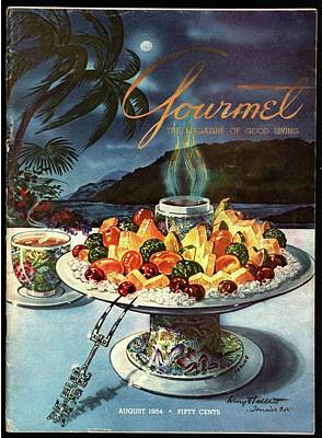 Gourmet Cover Illustration Of Fruit Dish Art Print by Henry Stahlhut