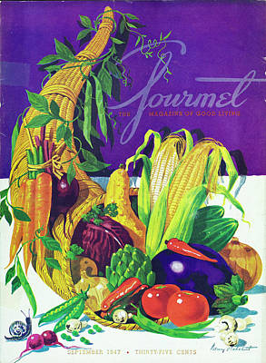Gourmet Cover Of A Cornucopia Art Print