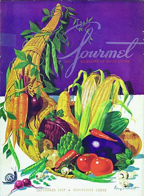Purple Mushroom Photograph - Gourmet Cover Of A Cornucopia by Henry Stahlhut