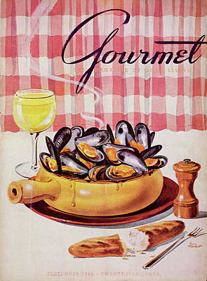 Photograph - Gourmet Cover Of A Mussel Pot by Henry Stahlhut