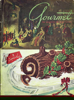 Photograph - Gourmet Cover Of A Yule Log Cake by Henry Stahlhut