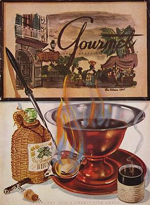 Photograph - Gourmet Cover Of Maison Begue's Cafe Brulot by Henry Stahlhut