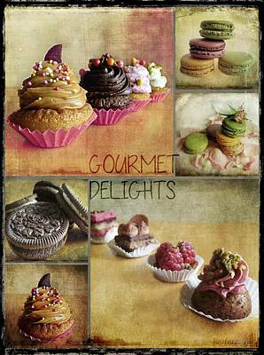 Gourmet Delights - Collage Art Print