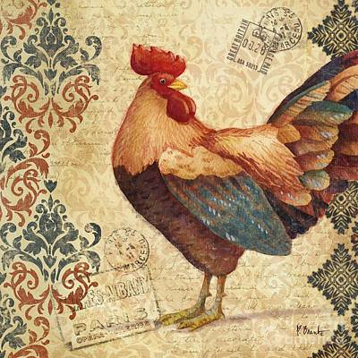 Wall Art - Painting - Gourmet Rooster Iv by Paul Brent