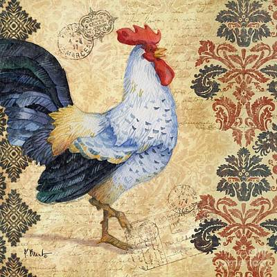 Wall Art - Painting - Gourmet Rooster by Paul Brent