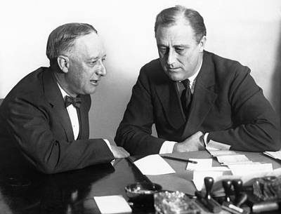 Franklin Photograph - Gov. Al Smith And Roosevelt by Underwood Archives