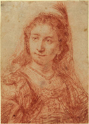 Saskia Drawing - Govaert Flinck Dutch, 1615 - 1660, Saskia by Quint Lox