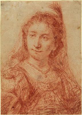 Govaert Flinck Dutch, 1615 - 1660, Saskia Art Print