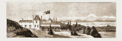 British Columbia Drawing - Government House, Victoria, British Columbia by Litz Collection