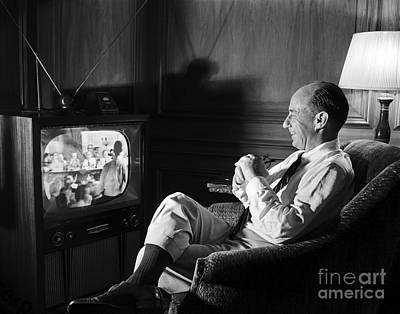 Print featuring the photograph Adlai Stevenson 1952 by Martin Konopacki Restoration