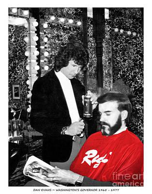 Photograph - Governor Dan Evans Haircut by Merle Junk