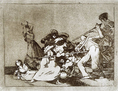 Drypoint Painting - Goya Disasters Of War by Granger