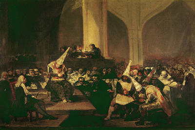 Inquisition Painting - Goya Inquisition, 1816 by Granger