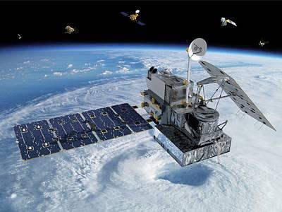 Gpm Rainfall Satellite Art Print by Nasa/goddard/britt Griswold