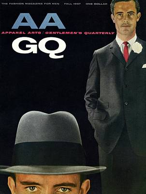 Gq And Aa Cover Of A Montage Of A Male Model Art Print