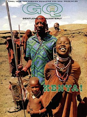 Gq Cover Featuring A Group Of Massai People Art Print