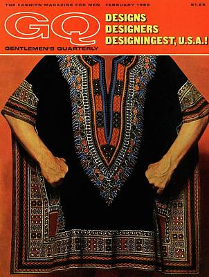 Photograph - Gq Cover Featuring A Male Model Wearing A Dashiki by Leonard Nones