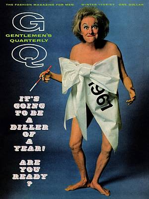 Gq Cover Featuring Comedienne Phyllis Diller Art Print by Carl Fischer