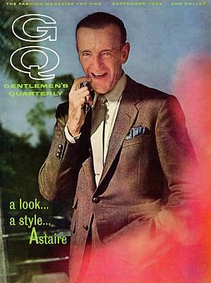 Gq Cover Featuring Fred Astaire Art Print by Chadwick Hall