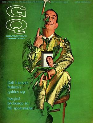 Fashion Design Photograph - Gq Cover Featuring Salvador Dali by Chadwick Hall