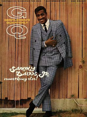 Fashion Photograph - Gq Cover Featuring Sammy Davis Jr by Milton Greene